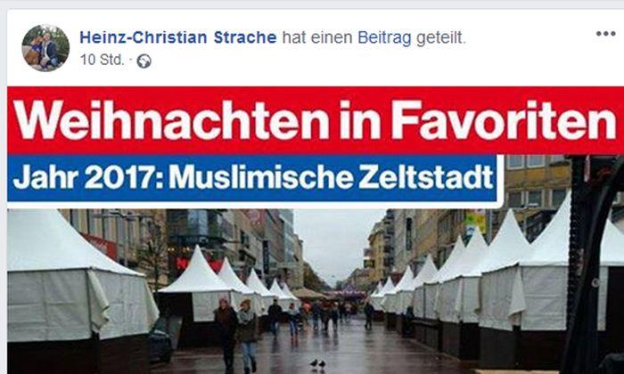 Posting auf der Facebook-Seite von Heinz-Christian Strache