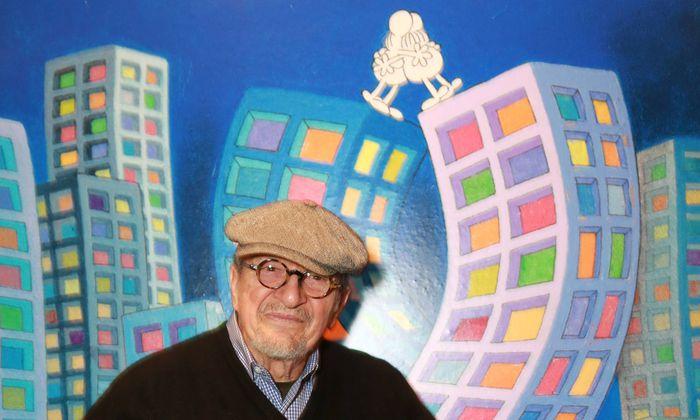 Mordillo bei einer ihm gewidmeten Retrospektive im Karikaturenmuseum Krems 2015.