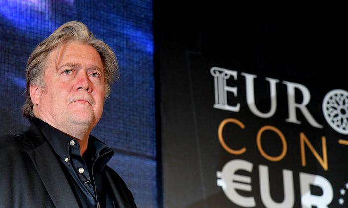 """Bannon, früherer Chefstratege von US-Präsident Donald Trump, will Europas Rechte versammeln und mit Hilfe einer in Brüssel ansässigen Stiftung namens """"Die Bewegung"""" Einfluss auf die Europawahl im kommenden Jahr nehmen."""