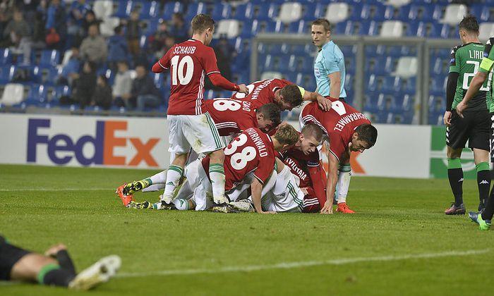 FUSSBALL UEFA EUROPA LEAGUE: US SASSUOLO CALCIO - SK RAPID WIEN