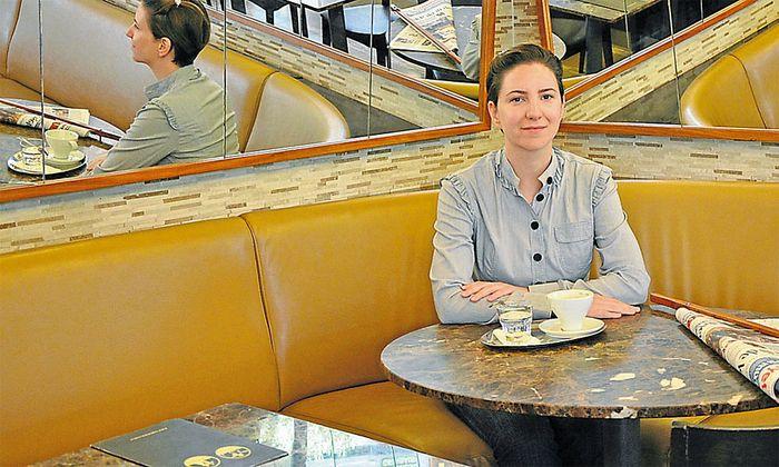 ¸Sebnem Sükan leitet das Café Wien in Istanbul.