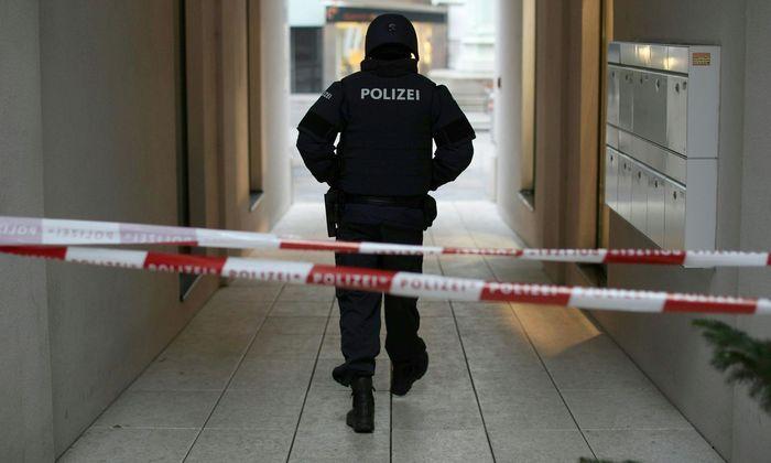Die Polizei am Tatort nahe dem Lugeck