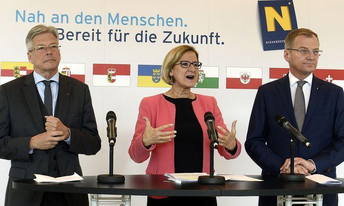 Peter Kaiser, Johanna Mikl-Leitner, Thomas Stelzer