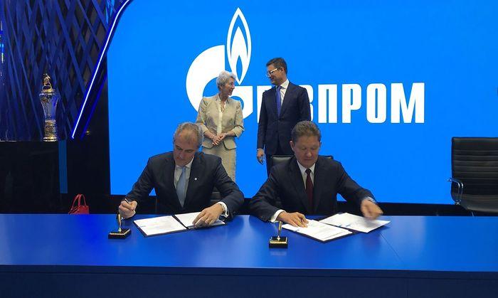 Gazprom und OMV unterzeichneten eine Absichtserklaerung zu einer LNG Kooperation