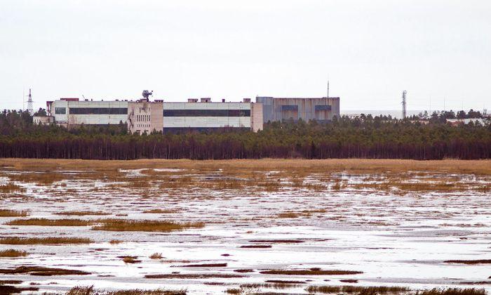 Der Militärstützpunkt bei Nyonoska am Weißen Meer. Von hier aus dürften die Tests des nuklearen Antriebs der neuen Superrakete 9M730 Burewestnik koordiniert werden.