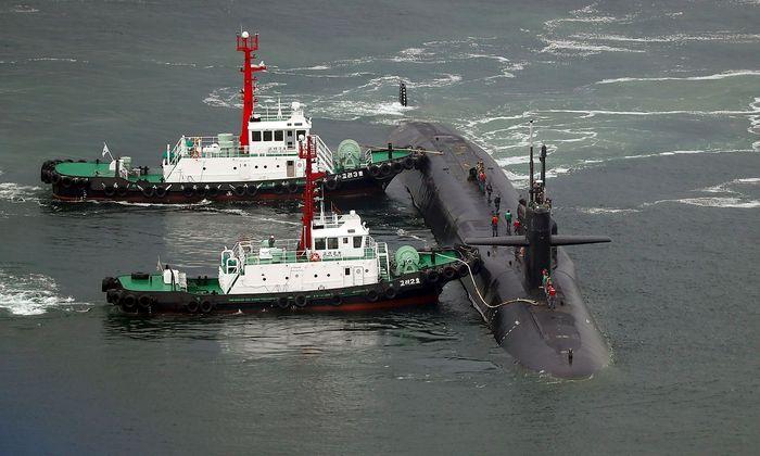 """Die """"USS Michigan"""" ist in südkoreanischen Gewässern eingetroffen."""
