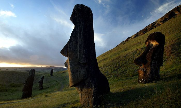 FILE PHOTO: A VIEW OF 'MOAI' STATUES ON EASTER ISLAND
