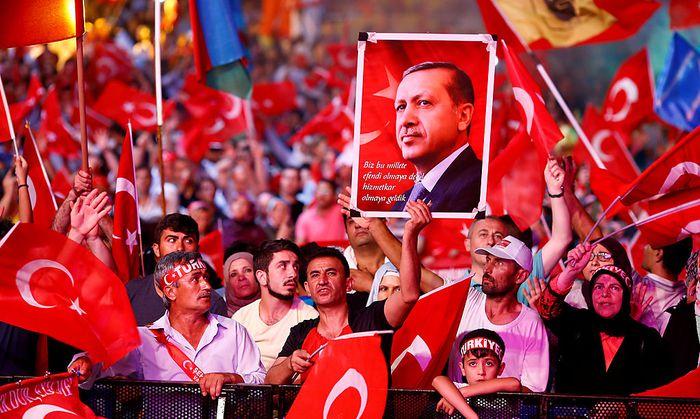 Unterstützer des türkischen Präsidenten.
