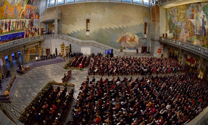 Schauplatz der Verleihungen des Friedensnobelpreises: das Rathaus von Oslo.