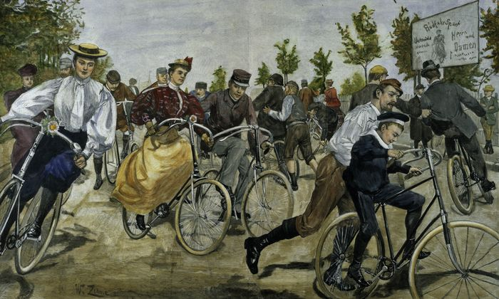 Berliner Radfahrschule / W.Zehme 1896 - Berlin bicycle school / W.Zehme 1896 -