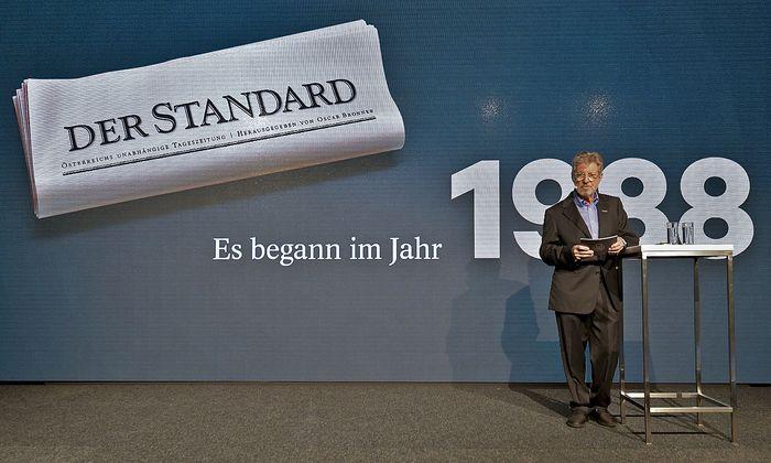 """Standard""-Gründer Oscar Bronner bei der 30-Jahr-Feier am 18. Oktober in Wien."
