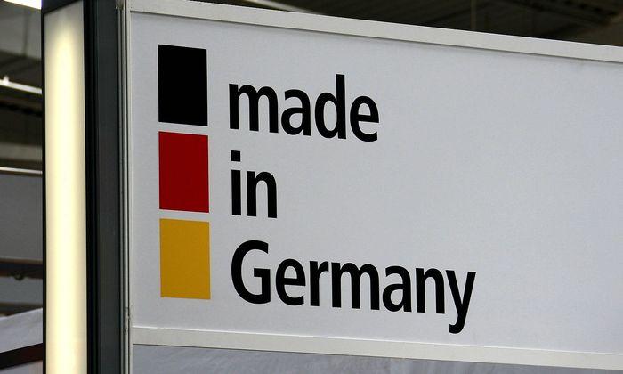 made in Germany - Schild auf der CeBIT 2008 in Hannover