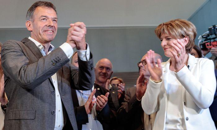 Georg Willi (Die Grünen), Christine Oppitz-Plörer (FI)