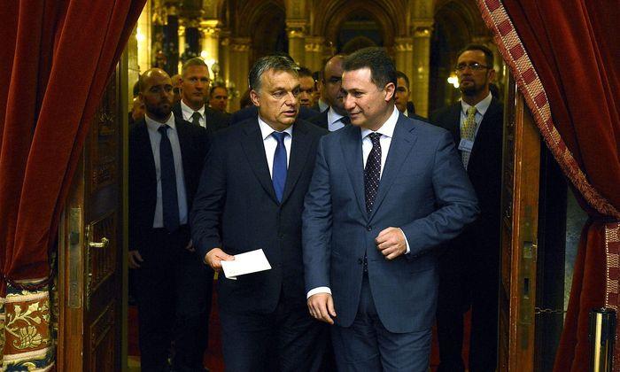 Viktor Orbán (li.) und Nikola Gruevski verbindet eine langjährige Beziehung.