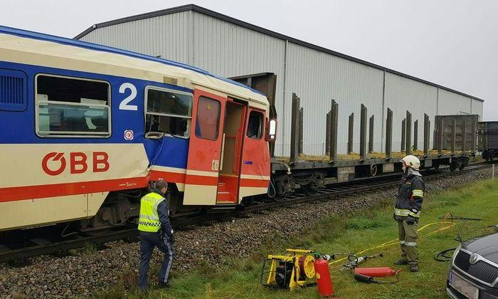 Bahnunfall in Wieselburg.