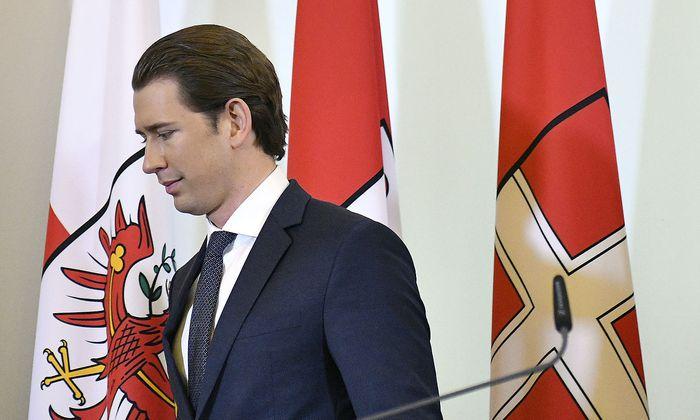 ÖVP-Chef Sebastian Kurz, hier bei der Pressekonferenz am Dienstag, sorgt mit seinem Vorhaben in den eigenen Reihen für gehörigen Unmut.
