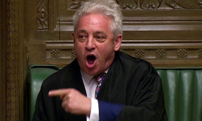 John Bercow will verhindern, dass die Regierung den Brexit am Parlament vorbei durchzieht.