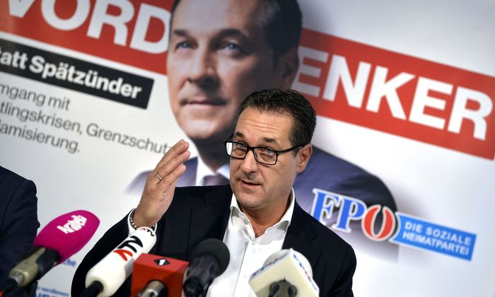 Strache im Wahlkampf 2017