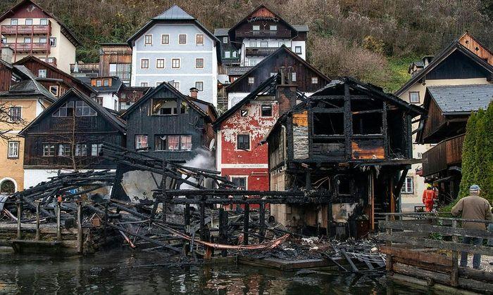 Brandstelle in Hallstatt