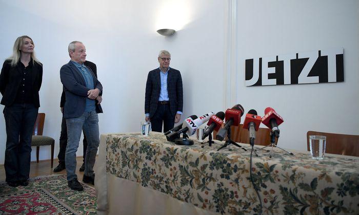 Maria Stern, Peter Pilz und Bruno Rossmann