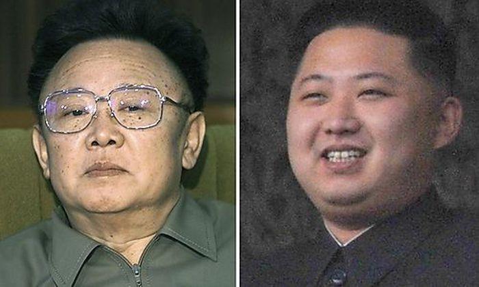 Kim Jong-il (re.), Kim Jong-un (li.)