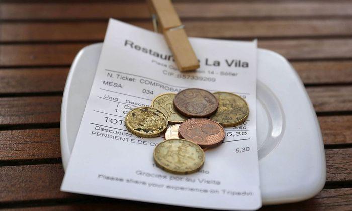 Symbolbild: Trinkgeld