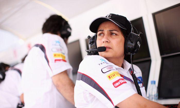 Monisha Kaltenborn 2012 als Sauber-Teamchefin beim Grand Prix von Bahrain.