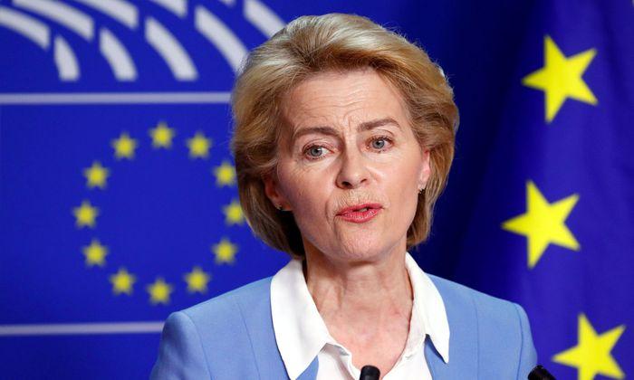 Ursula von der Leyen warb im Europäischen Parlament mit durchwachsenem Erfolg um Zustimmung.