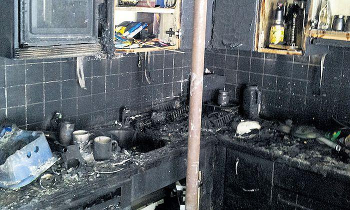 An der Wohnung entstand Totalschaden.