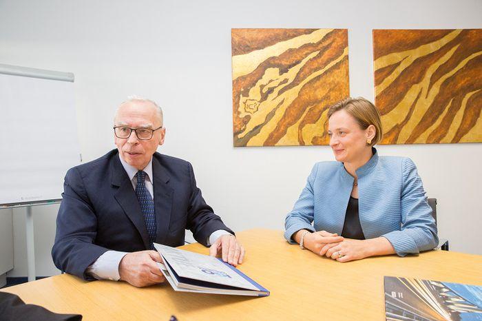 Klaus Ortner und Tochter Iris Ortner führen das Familienunternehmen