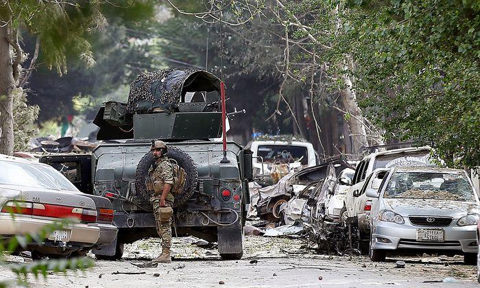 Bild der Verwüstung in Kabul.