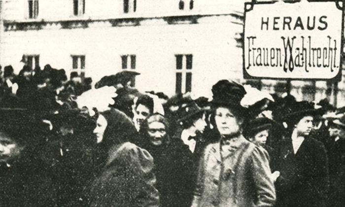 Frauentagsdemonstration am 19. März 1911 in Wien