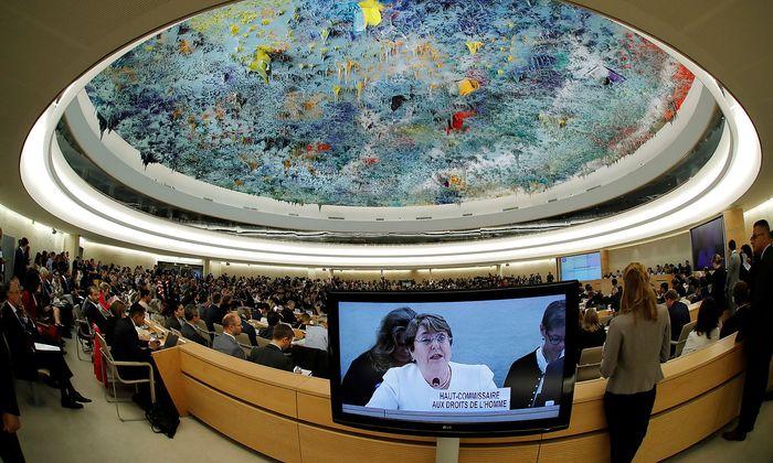 Michelle Bachelet trat ihr Amt als UN-Menschenrechtskommissarin an.