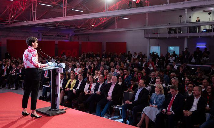 SPÖ-Chefin Pamela Rendi-Wagner eröffnete den EU-Wahlkampf ihrer Partei am Samstag.