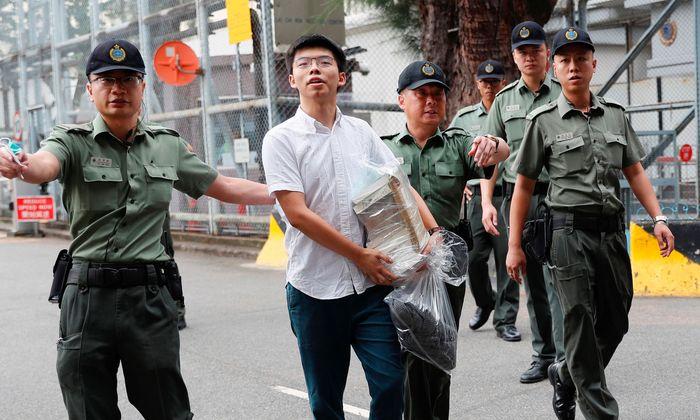 """Der 22-jährige Aktivist wurde für seine Rolle in der """"Regenschirm""""-Bewegung 2014 inhaftiert."""