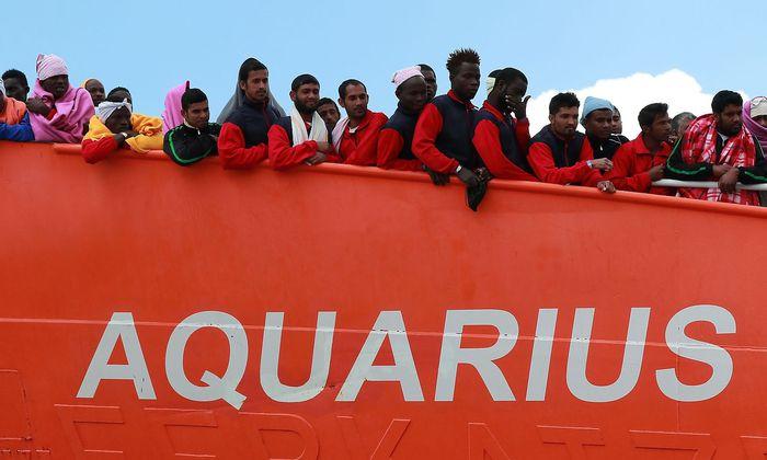 """Archivbild. Die """"Aquarius 2"""" ist das letzte private Rettungsschiff im Mittelmeer."""