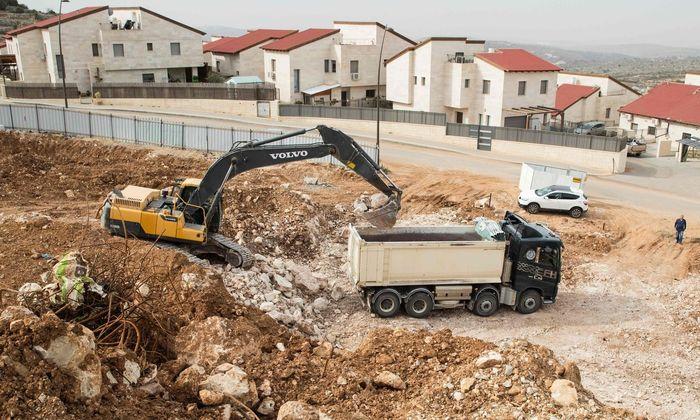 Im Westjordanland wird die israelische Siedlung Ariel nahe der Stadt Nablus ausgebaut.