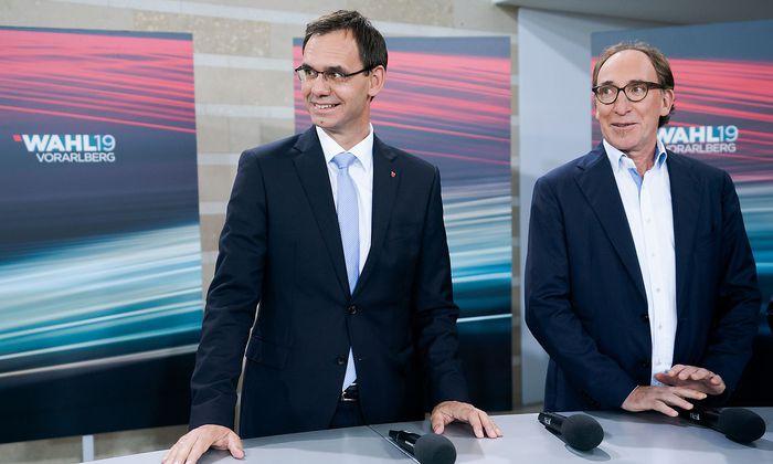 Die Chef-Koalitionäre Wallner und Rauch.