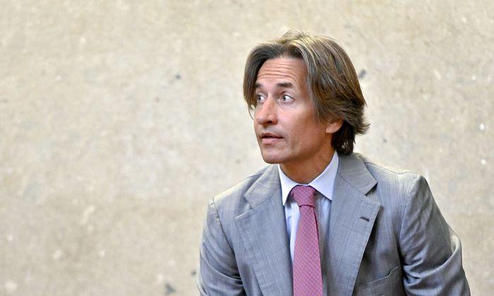 Der Hauptangeklagte, Ex-Finanzminister Karl-Heinz Grasser