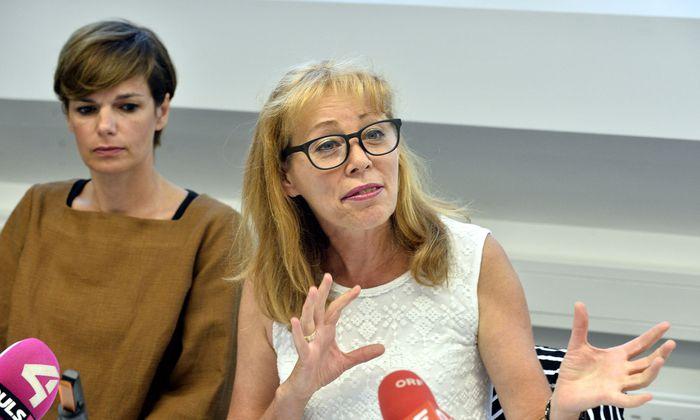 Gesundheitsministerin Pamela Rendi-Wagner und Wiener Gebietskrankenkassenchefin Ingrid Reischl.