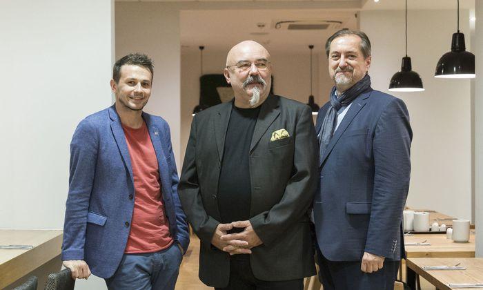 Genüssen auf der Spur, von links: Christoph Mayer, Hannes Etzlstorfer, Reinhard Linke.
