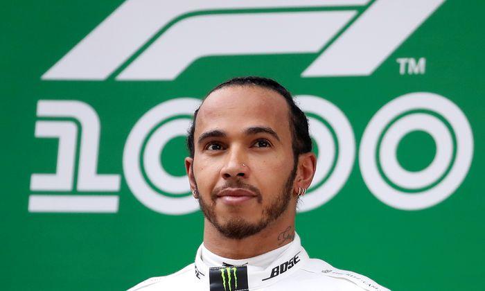 Stand bei 75 der bisherigen 1000 Grands Prix der Formel 1 ganz oben: Lewis Hamilton.