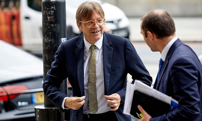 Guy Verhofstadt ist Vorsitzender der Allianz der Liberalen und Demokraten für Europa im EU-Parlament.