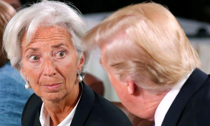 IWF-Chefin Christine Lagarde hat mit den Notenbankplänen von US-Präsident Donald Trump keine Freude.