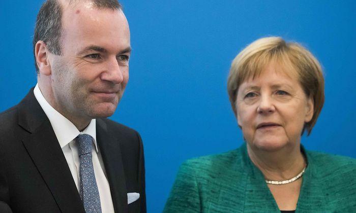Manfred Weber und Angela Merkel waren nicht immer auf einer Linie in der Vergangenheit - auch in den Beziehungen zu Ungarn.