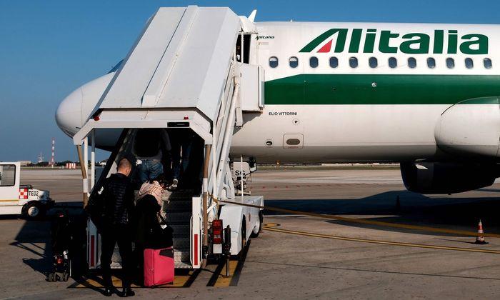 ITALY-TRANSPORT-AVIATION-LABOUR-EMPLOYMENT-ALITALIA