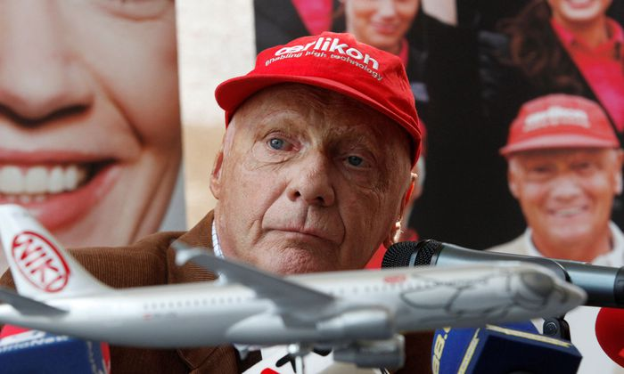 FILE PHOTO: Lauda, President of Niki low cost airline, Adresses the media in Vienna