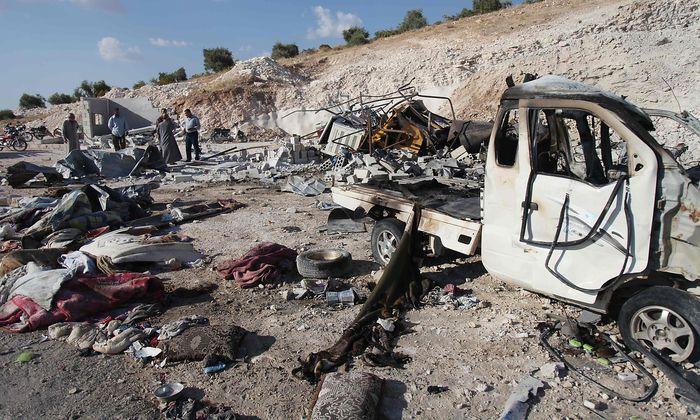 Luftangriffe sind Vorboten für eine Offensive der Assad-Regierung in der Region Idlib.