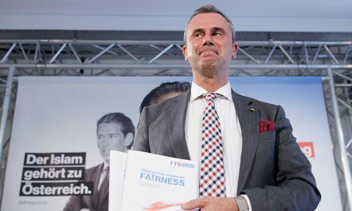 Norbert Hofer präsentierte am Mittwoch allein das Wahlprogramm der FPÖ. Parteichef Strache ist auf Bundesländertour.