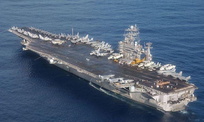 """Die """"USS Harry S. Truman"""" verstärkt die Nato-Übung """"Trident Juncture"""" mit 5000 Soldaten."""